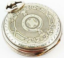 Silver Pocket Watch Antique Fine Solid