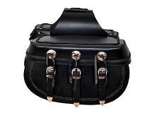 510 Braided Motorcycle Leather Biker Saddle Bag