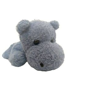 Happy Scrubbies Blue Hippo Terrycloth Bath Scrubber Tender Loving Things Cotton