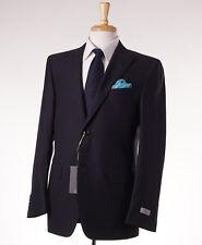 NWT $2195 CANALI 1934 Peak Lapel Midnight Purple-Black Wool Suit 40 R (Eu 50)