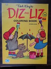 TED KEY'S DIZ AND LIZ COLORING BOOK TREASURE #417 1964 VINTAGE UNCOLORED NEW