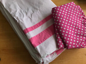 POTTERY BARN Full Queen Duvet Teen Kids Pink Girls Cotton Dottie with Shams