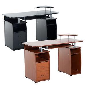 HOMCOM Home Office Computer Desk PC Table Workstation Drawers Shelves Storage