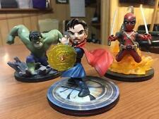 QMX Marvel Q-Fig Deadpool Hulk Dr Strange 3X Figures Loot Crate NEW! XMAS GIFT!