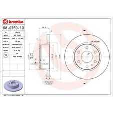 BREMBO 2x Bremsscheiben Voll 08.9759.10