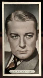 Tobacco Card, Ardath, FAMOUS FILM STARS, 1934, Clive Brook, #18