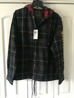 Polo Ralph Lauren ST. ANDREWS 3 Hooded Twill tartan Plaid army Jacket Large $168