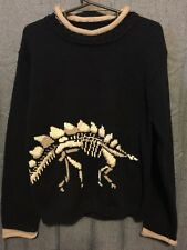 Boutique Dinosaur Sweater New Size 7 Bones navy rolled collar dino fossil