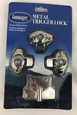 GunMaster Metal Trigger Lock Pack of 3 Fits Most Handguns, Rifles and Shotguns