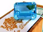GIA Certified 99.90ct Natural Blue Emerald Cut Aquamarine Magnificent Gemstash