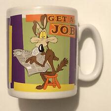 Wile E Coyote 30oz Mug I Resolve... Get A Job NEW