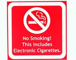 No Smoking Sign for shop and office- Engraved NOT Vinyl Sticker