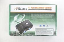 Kinamax Powered 4-Port VGA Video Splitter Windows & Mac Compatible
