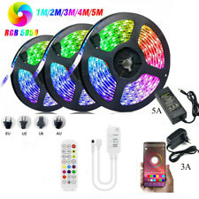 Bluetooth APP Control RGB LED Strip light Sync Music Tape Rope Lights 1-30m 24V