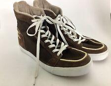 Puma Men's 9 High Top Brown Suede Sneakers