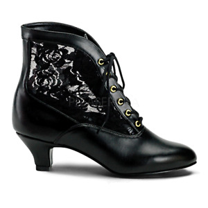 Victorian Steampunk Bridal Pioneer Witch Burlesque Ankle Lace Boots