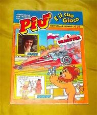 PIU' E IL SUO GIOCO N.29 SETTIMANALE EDITORIALE DOMUS '80