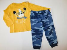 NW First Impressions Baby Boy 2 Pc Set Smart Dog T-Shirt/Pants 18M New Free Ship