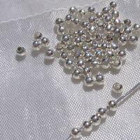 LOT DE 250 PERLES RONDES LISSES 3MM ARGENTÉES TROU 1MM création bijoux *A139