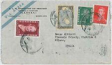 Mappe-ARGENTINA-STORIA POSTALE: posta Aerea per Italia - 1955-evita!