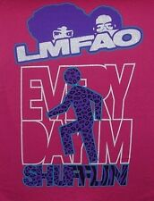 LARGE WOMEN'S PINK T-SHIRT ** LMFAO ** EVERY DAY IM SHUFFLIN ** BABY DOLL TEE