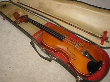 "nice & old 3/4 Violin   violon ""Stainer"" branding"" nicely flamed!"