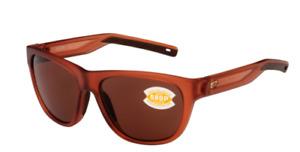Costa Del Mar Bayside Polarized Sunglasses 580P Matte Coral/Copper