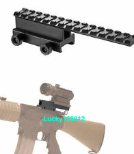 """Flat top 1"""" inch See Through Riser Scope Rail Mount with Extension For Hunting"""