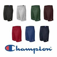 "NEW Champion Mens Size S-2XL Athletic Long Mesh Pocket Gym Shorts 9"" Inseam s162"