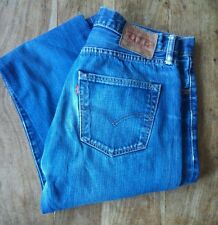 LEVI STRAUSS &CO 501 RED TAB MEN'S BLUE JEANS  SIZE W32 L33 VGC.