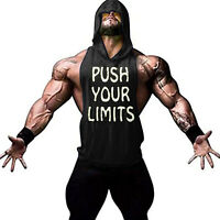 Mens Gym Muscle Fit Workout Shirt Lightweight Sleeveless Athletic Hoodies Tank