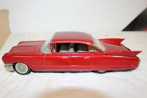 Vintage 1959 ? Cadillac YONEZAWA Japan Metal Friction Dealer Promo Toy Car