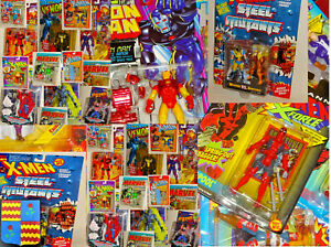 Marvel Action Figures Super Heroes  X Men X Force Iron Man In Blisrer Nuovi