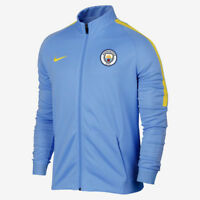 NIKE MAN CITY FOOTBALL TEAM JACKET CASUAL TOP BLUE YELLOW MENS SIZE M Medium