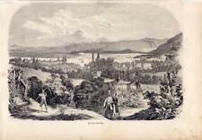Zürich - Schweiz - Switzerland - Holzstich 1847