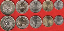 Colombia set of 5 coins: 50 - 1000 pesos 2013-2014 UNC