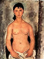 AMEDEO MODIGLIANI STANDING ELVIRA OLD MASTER ART PAINTING PRINT POSTER 202OMA