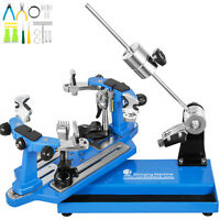 Tennis Stringing Machine 6 Point Mounting Blue Tennis Racket Badminton Stringer