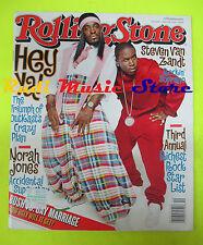 ROLLING STONE USA MAGAZINE 944/2004 Outkast Norah Jones Steven Van Zant  No cd