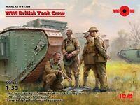 ICM 35708 - 1:35 scale - WWI British Tank Crew (4 figures) Plastic model kit