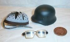 TOYS  CITY German Motorcyclist Helmet & goggles 1/6th scale toy accessory