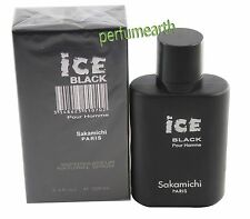 Ice Black by Sakamichi for Men EDP Cologne Spray 3.4/3.3 oz New In Box