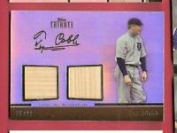 TY COBB 2011 TOPPS TRIBUTE 2 GAME USED BAT CARD #d28/99 DETROIT TIGERS Hall Fame