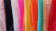 Joblot 24 pcs Mixed colour chiffon scarf + gold edging wholesale 180x60cm Lot 56