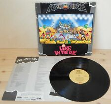 LP HELLOWEEN Live in the U.K. (Emi/Noise Int 89 ITALY) 1st ps metal inner VG+