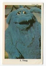 1970s Swedish Card #7 The Muppet Show Muppets Blue Monster Thog