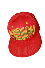 PORTUGAL RED FPF LOGO FIFA SOCCER WORLD CUP HIP HOP HAT CAP .. NEW