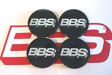 4 REAL BBS BLACK 3-D LOGO 56mm CENTER CAPS 56.24.012 SUBARU  & MITSUBISHI