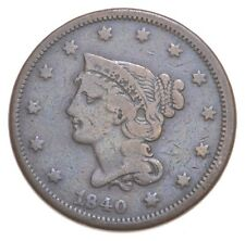 Better 1840 Braided Hair US Large Cent Penny Coin Collection Lot Set Break *435