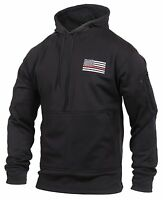 Rothco 2066 Thin Red Line Concealed Carry Hoodie - Black
